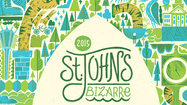 2015 St. Johns Bizarre poster. Designed by Jolby & Friends